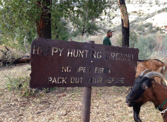 The Happy Hunting Ground Sign